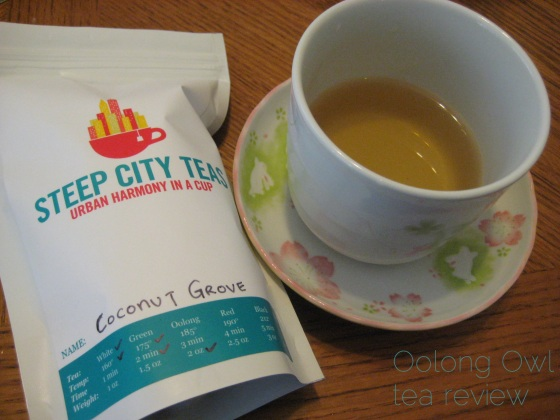 Coconut Grove from SteepCityTeas - Oolong Owl Tea Review (8)