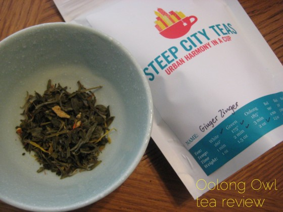 Ginger Zinger from Steep City Tea - Oolong Owl Tea Review (1)