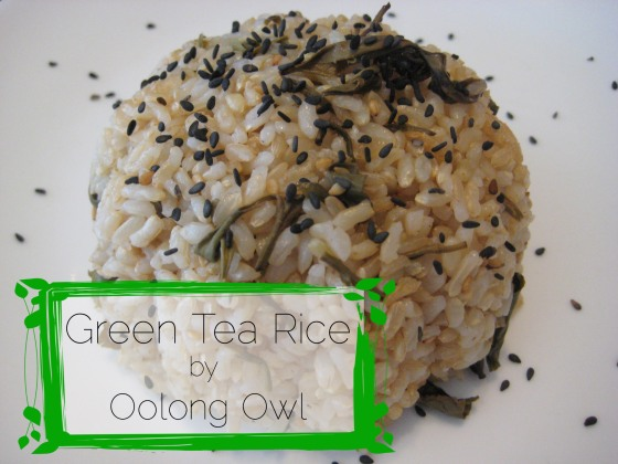 Green Tea Rice Recipe - Oolong Owl