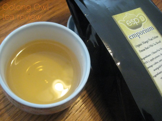 Mango Pear Deluxe from ESP Emporium - Oolong Owl Tea Review (1)