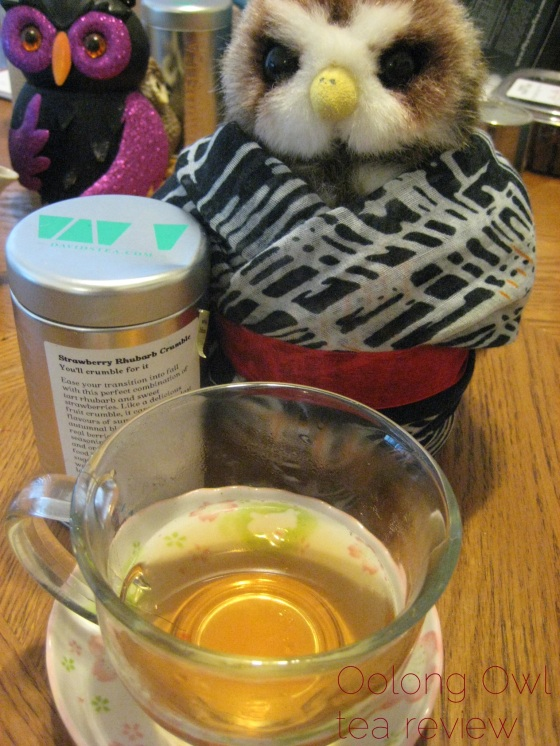 Strawberry Rhubarb Crumble from DavidsTEA - Oolong Owl Tea Review (5)