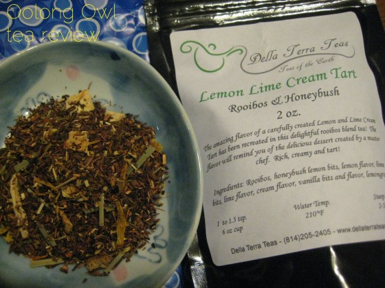 Lemon Lime Cream Tart from Della Terra Teas - Oolong Owl Tea Review (2)