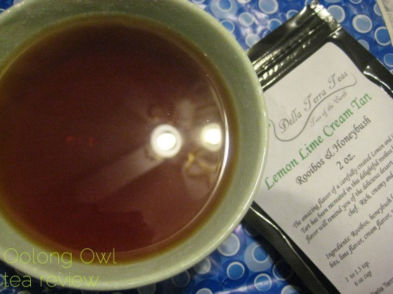 Lemon Lime Cream Tart from Della Terra Teas - Oolong Owl Tea Review (3)