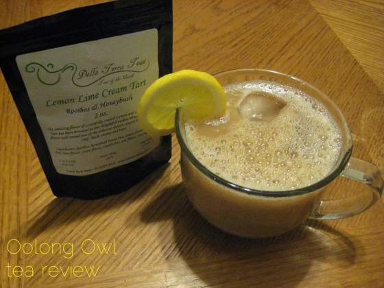 Lemon Lime Cream Tart from Della Terra Teas - Oolong Owl Tea Review