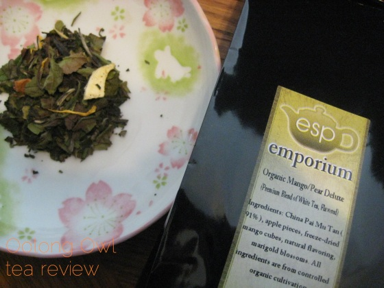 Mango Pear Deluxe from ESP Emporium - Oolong Owl Tea Review (2)
