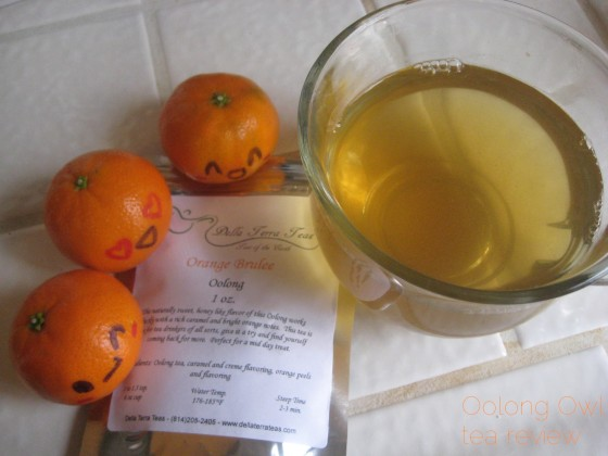 Orange Brulee from Della Terra - Oolong Owl tea review (6)