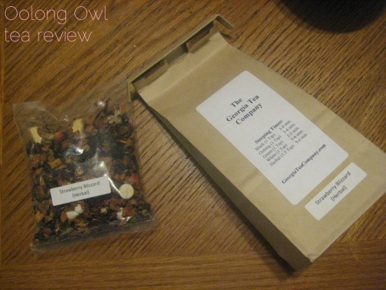 Strawberry Blizzard from Georgia Tea Co - Oolong Owl tea review (1)