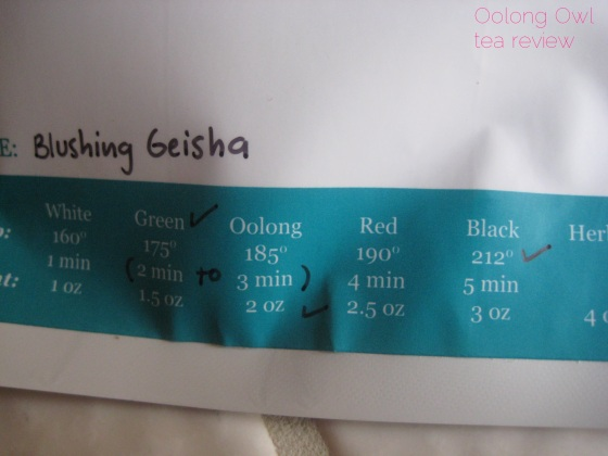Blushing Geisha from Steep City Teas - Oolong Owl Tea Review (4)