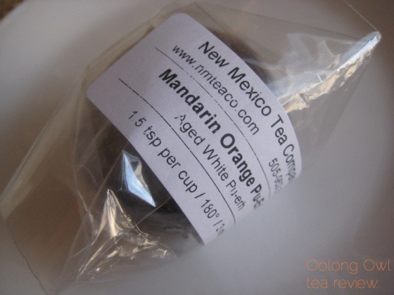 Mandarin Pu-er white tea from New Mexico Tea Co - Oolong Owl Tea Review (1)
