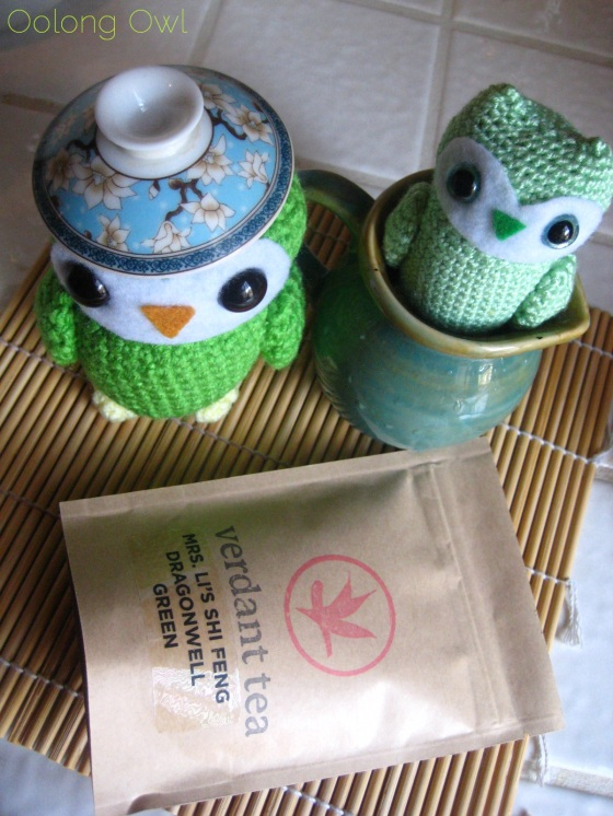 Mrs Li She Feng Dragonwell from Verdant Tea - Oolong Owl tea review (1)